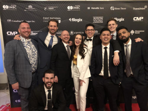 CanWise team winning the Brokerage of the Year Award 2019